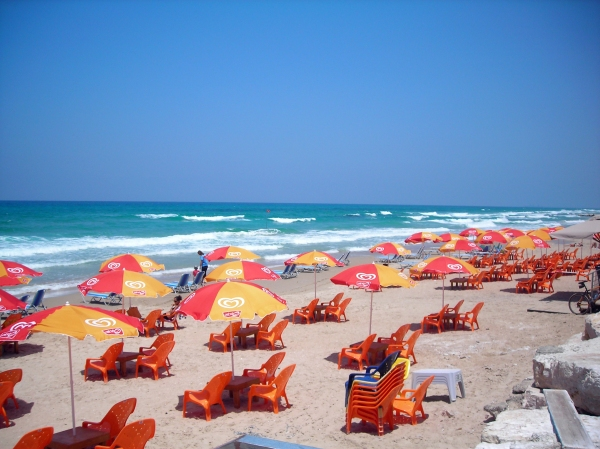 Beach season begins at Neurim Beach, near Beit Yannai.