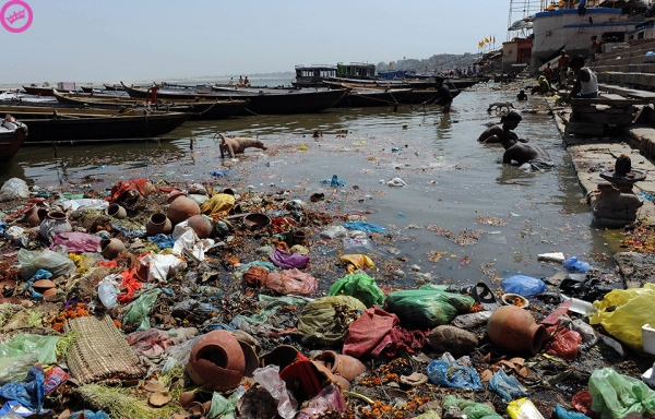 Pollution along the Ganges River
