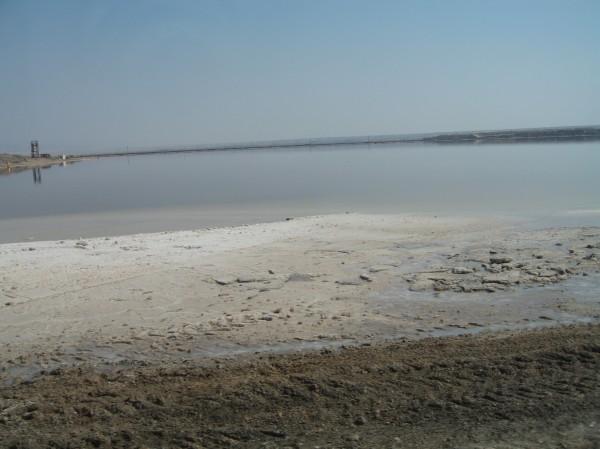 The receding Dead Sea.